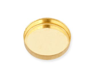 yellow Gold Filled Round Bezel Cup 8 mm Sold by unit