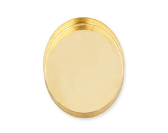 Yellow Gold Filled Oval Bezel Cup 12x16 mm Sold by unit