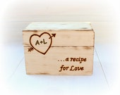 Personalized Rustic Recipe Box Bridal Shower Gift