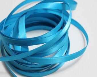 "1/4"" Satin Ribbon - Turquoise - 10 yards"