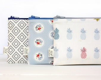 Zipper Pouch, Pencil Pouch, Pencil Case, Cosmetics Bag,  School Supplies, Gift For Her, Organizer, Coin Purse, Wallet, Bridesmaids Gift, Bag
