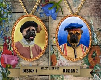 Bullmastiff  Jewelry. Bullmastiff  Pendant or Brooch. Bullmastiff Necklace. Bullmastiff Portrait. Custom Dog Jewelry by Nobility Dogs