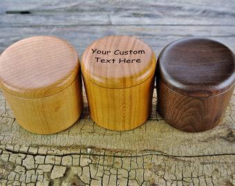 ONE CUSTOM ENGRAVED Box - (Choose Wood Type) -Custom Wooden Box - Custom Box - Wood Turned Box - Carved Box -  Wedding Favor - Wedding Gift