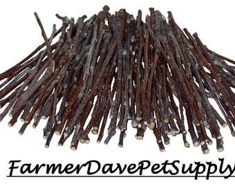 100 APPLE ULTRA SKINNY Chew Twigs For Small Animals
