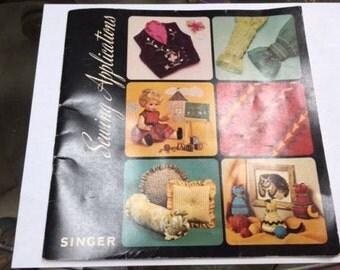 Vintage Singer Sewing Applications Book 1975
