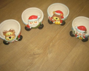 Vintage Christmas Ice Cream or Cereal Bowl (4)