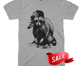 Mens Large On Sale - Bad Raccoon T Shirt Funny Tees TShirts Last Man On Earth Raccoon Shirt Graphic Tshirts