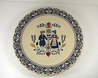 Vintage Johnson Bros DINNER PLATE Set/4 Hearts & Flowers Old Granite Transfer Ironstone England