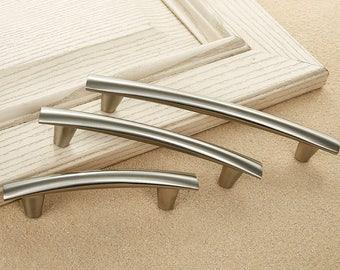 "3.75"" 5"" 6.3"" Silver Dressr Handle Comtemporay Drawer Pull  / Kitchen Cabinet Pull Handle Knobs Furniture Hardware WM139"