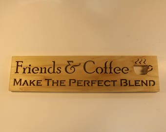 Coffee Sign - Sign Coffee -Farm House Kitchen - Words on Wood - Wood Signs Farmhouse - Country Decorations - Wooden Signs Family