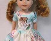 Wee Wander, Short Sleeved Dress for your 14.5 Inch Doll B