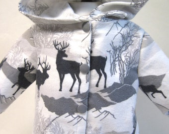 Deer Winter,  Flannel Jacket for Your 18 Inch Doll C