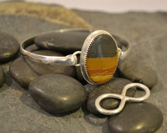 """Sterling silver interchangeable bracelet.  """"Switcheroo"""".  Custom stones and sizes available."""