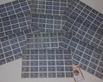 250 Blue savings trading stamps 10 sheets of 25 Alameda coupon Vintage paper supplies ephemera