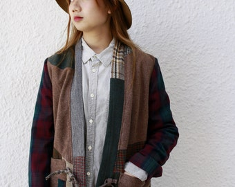 Tweed Patchwork Kimono (Woman)