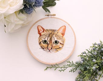 Bengal Cat Hoop Embroidery
