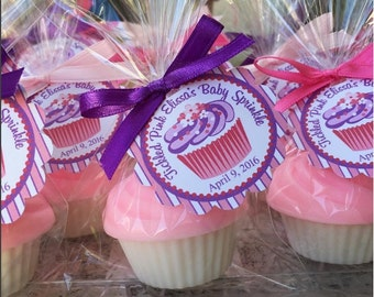 25 CUPCAKE SOAPS {Favors} - Birthday Party Favor, Cupcake Soap Favor, Wedding Cake Favor, Cupcake Birthday Theme