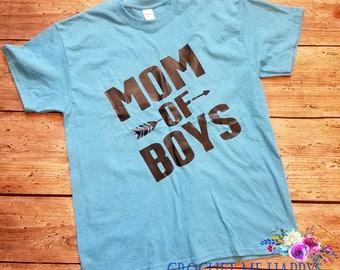 Mom of Boys Boy Mom MomLife #Momlife Work Out Tee Shirt, Tank Top