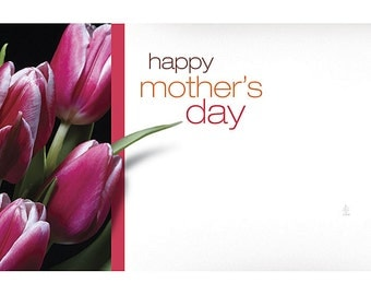 "50 ""Happy Mother's Day"" Tulips Florist Blank Enclosure Cards Small Tags Crafts (Free Shipping!)"
