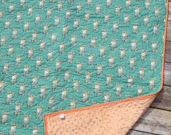 Fawn Whole Cloth Baby Quilt