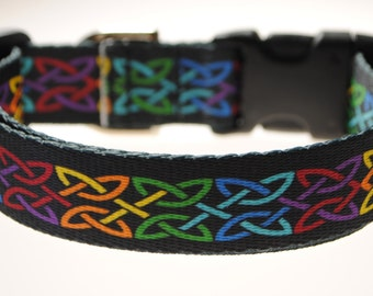"Celtic Knot - 1"" Wide Adjustable Dog Collar"