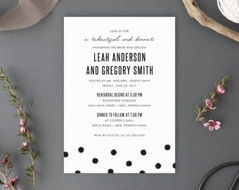 Printable Wedding Rehearsal and Dinner Invitation, Chelsea Collection