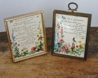 2 Vintage Small Picture Metal Picture Frames
