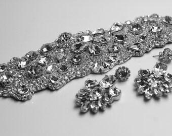 Crystal Cuff, Crystal Bracelet, Bridal Bracelet, Wedding Jewelry, Bridal Cuff. Classic All Swarovski Crystal Old Hollywood Rhinestone Cuff