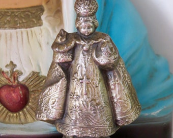 Vintage Metal INFANT of PRAGUE Statue- unique and wonderful for your collection