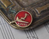 """Vintage Soviet Russian badge,pin.""""Russian aircraft - IL 62"""""""