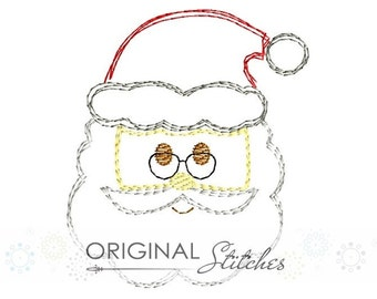Quick Stitch Christmas Santa Claus Embroidery Digital Design File  4x4 5x7 6x10 8x8