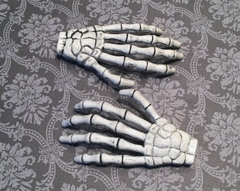 Skeleton Hand Clips, Skeleton hands, Halloween clips, Skeleton hand hair clips