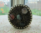 Vntg handcrafted trinket treasure box to add to your collection lined in red velvet very old