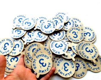 Collection 57 x Vintage Ice Cream Price Tags - Alpine Cream Ices