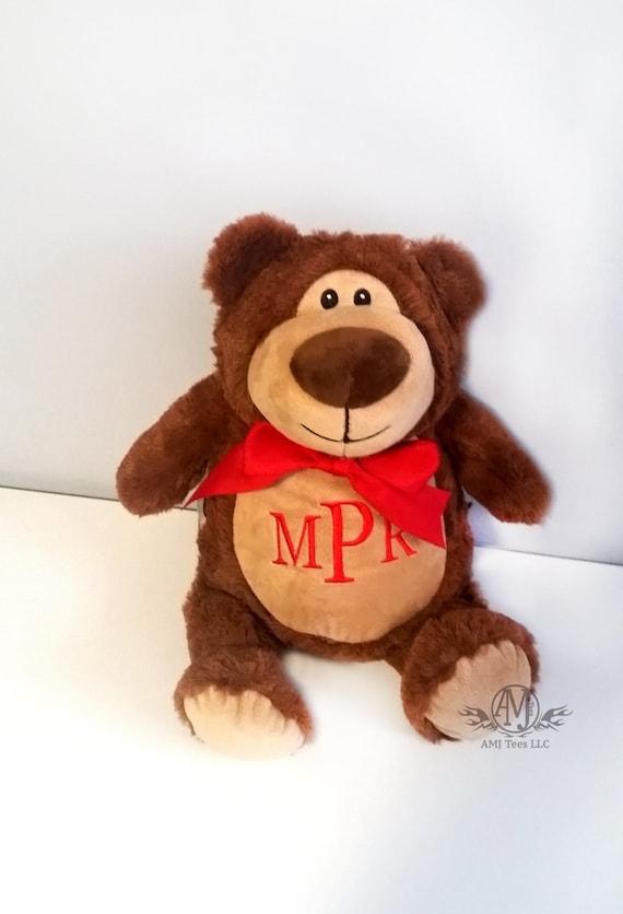 Personalized stuffed animal stuffed bear monogrammed baby gift il570xn negle Images