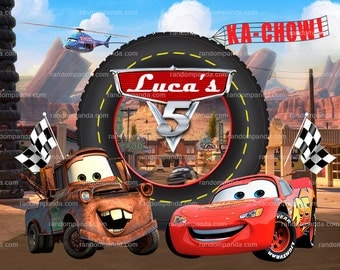 Personalize Kids Poster, Lightning Mcqueen Poster, Disney Cars Party Wall Art