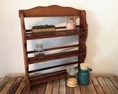 Vintage Wood Curio Spice Shelf