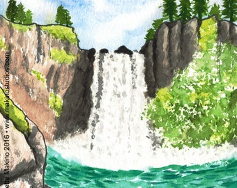 222. waterfall birthday card - set of any 6 cards