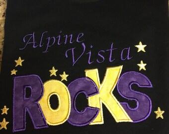 School Spirit Embroidered Tshirt