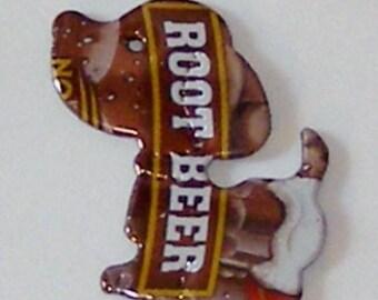 Small Snoopy Beagle Magnet  - MUG Root Beer