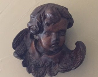 Carved  Putti Cherub Angel German Abx