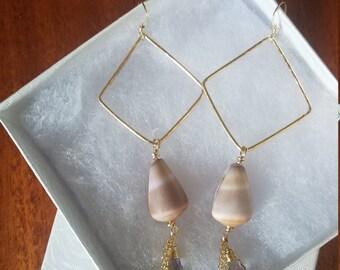 Gold filled Shell earrings