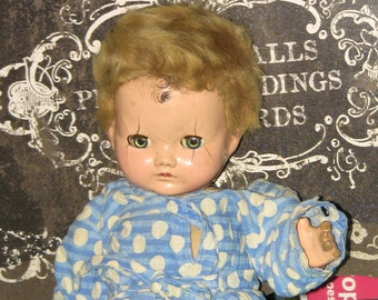 Antique Baby Doll with Haunted Doll Story Mothers Day Gift Vintage