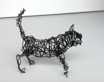 Unique Wire Cat Sculpture - Cat Art - TINY KITTY