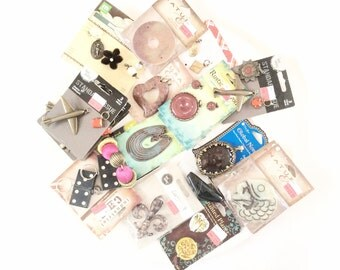 Salvages jewelry making supplies new old stock clearance Beads and pendants assortment