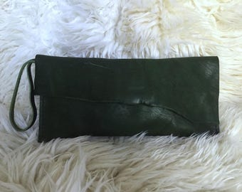 Emerald Horween Clutch- 1732
