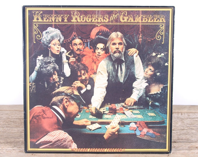 Vintage 1978 Kenny Rogers Record - The Gambler / Arista Vinyl Records / Antique Vinyl Records / Old Records Music Party Decor / Rock Country