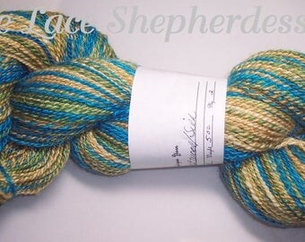 Handspun sport weight BFL wool/Silk yarn. 305 yards
