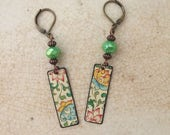 """Tin Jewelry Earrings """"Burst of Spring"""" Tin for the Ten Year Tenth Wedding Anniversary"""