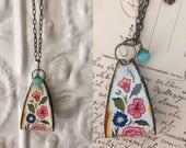 "Tin Jewelry Necklace ""Nostalgia"" Tin for the Ten Year Tenth Wedding Anniversary"